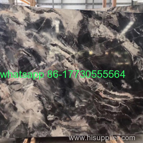Polished Floor Wall And Countertop sunny gray and black marble tilesJ-15