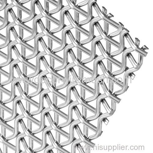 crimped woven mesh metal decorative material