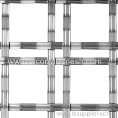 flat bar crimped woven fabric partition decor mesh