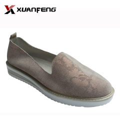 Slip-on sneaker shoes women comfortable printing leather shoes