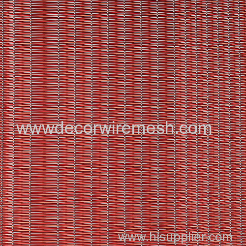 red color woven mesh glass lamination woven fabric wall coving mesh