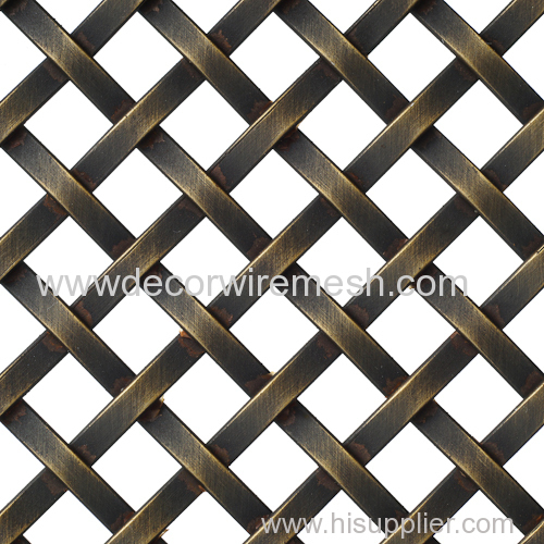 antique brass woven fabric furniture decor mesh