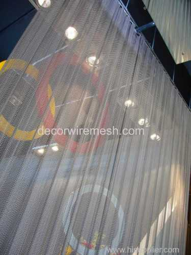 metal coil drapery spring mesh curtain