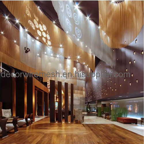 metal coil drapery curtain screen
