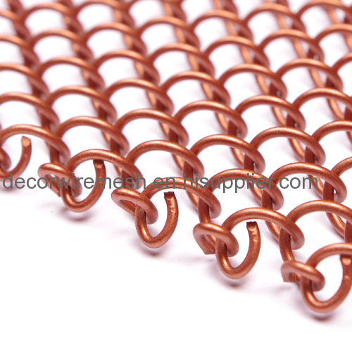 Bronze Woven Mesh Fabric Curtain