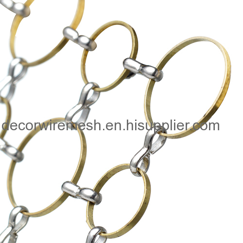 Metal Ring Mesh for Architecture Decoration