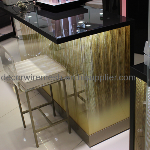 Woven Metal Drapery for Counter Decoration