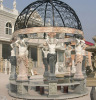 Hand carved marble sculpture gazebo