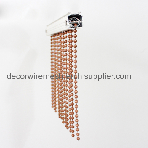 Vintage copper color metal hanging door beads curtain