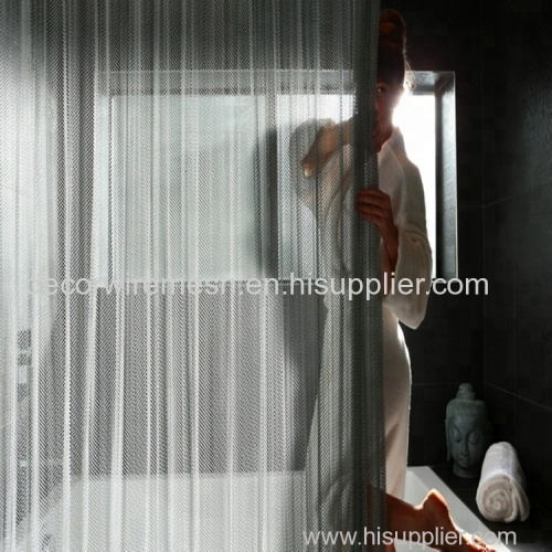 Cascade Stainless Steel shower curtain