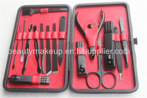 black matte mens manicure set ladies manicure at home luxury manicure set pedicure kit nail kit nail clippers