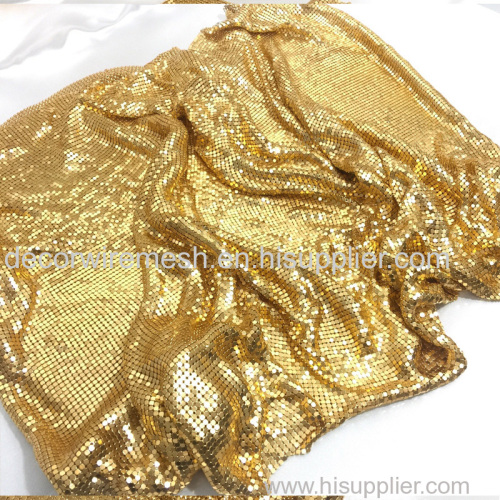 Flexible Metallic Sequin Fabric brass cloth