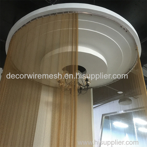 Decorative coil drapery curtain
