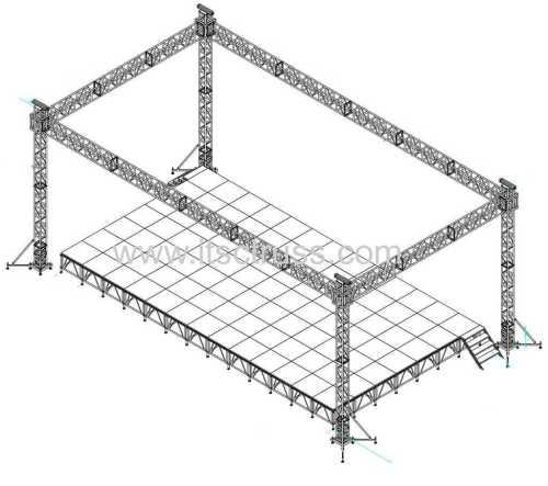 Square Lighting Truss Stage Flat Roof system