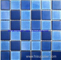 blue marble Mosaic backsplash kitchen pool mosaic tile