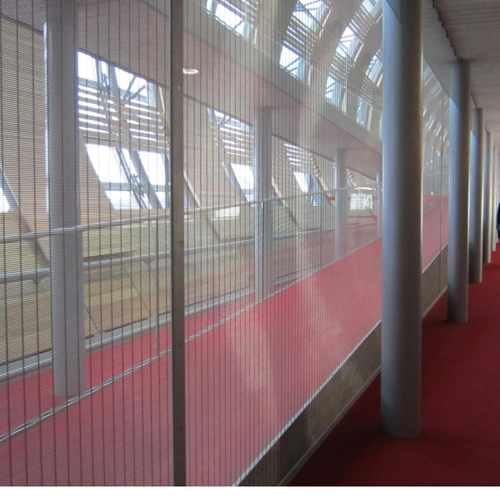 Metal Fabric divider for Airport Lobby