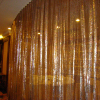 Decorative gold sequin curtains/metal fabric cloth metal scale mesh