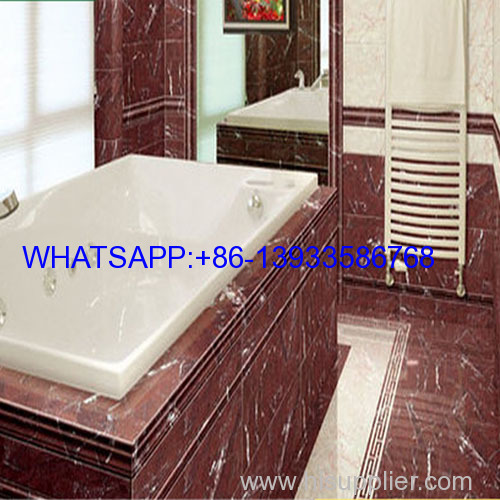 red floor natural stone marble tile