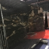 Cosmic Black Black Matrix Titanium Gold Polished white black gold granite stone slab tile kitchen countertop