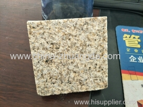 G862 Bush hammered Misty Yellow Granite Paving Stone brick Y-35