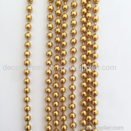 Decorative Golden metal bead curtains
