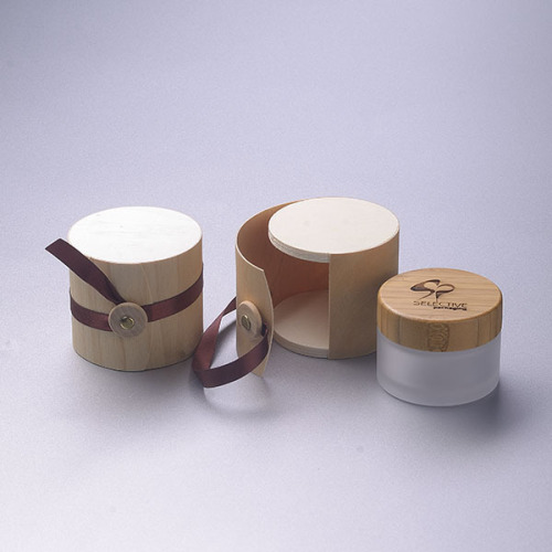 50g frosted glass jar with bamboo srew cap cream jar eco-friendly cosmetic packaging