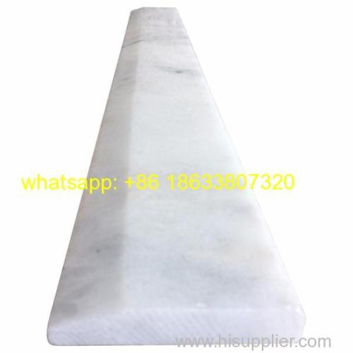 Polished Single Hollywood Bevel edge White Carrara Marble door Saddle threshold Y-040