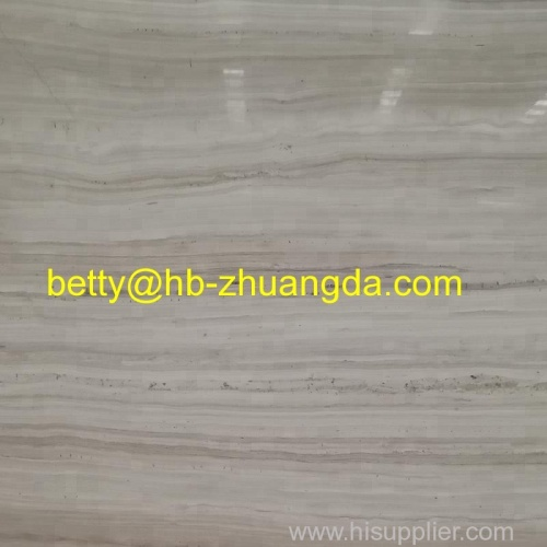 White Grey Wooden Light Marble Slab / Tile Y-044