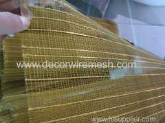 brass mesh for lamination glass h e m p rope woven drapery