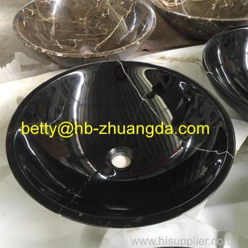 Black Marble stone wash basin bowl Y-047