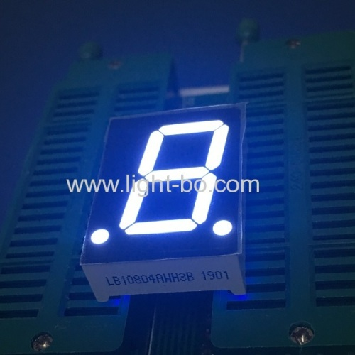 Ultra Briht White common anode 0.8 inch single digit 7 segment led display for Instrument Panel