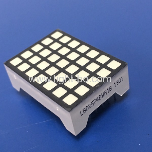 Ultra White 14 pins 1.1-inch 3.39 5 x 7 square dot matrix led display for Elevator position indicator