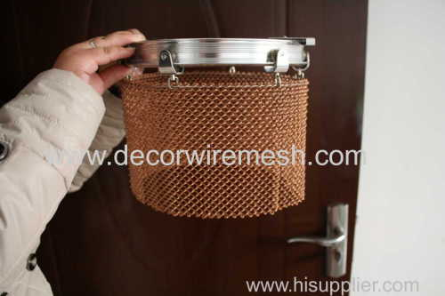 figured metal curtain screen circle shape spring curtain
