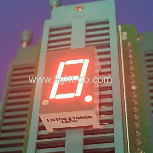 Super red 0.43inch common anode Single digit 7 segment led display for Instrument Panel