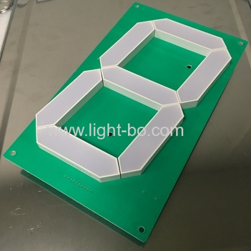 Customized 7inch Pure Green Large size 7 Segment LED Display for Wall Clock