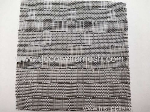 Black woven square glass lamination mesh