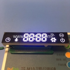 Customized ultra white 7 segment led display module for kitchen hood control