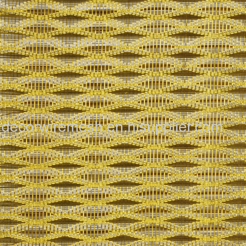 Gold mesh as background for Cabinet /Display case