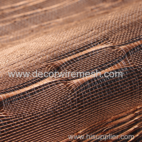 silver coated brass wire woven mesh textile