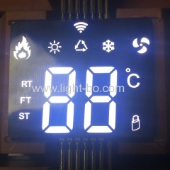 Ultra thin Custom design ultra white SMD led display common anode for temperature controller