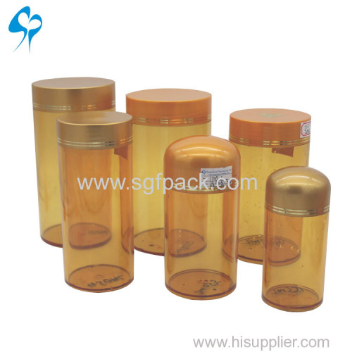 Hot sale PET Plastic Medicine Pill Bottle with Cap for fish medicine herbal