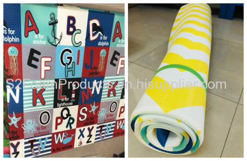 Customized High Elastic TPU film baby soft PU foam play mat