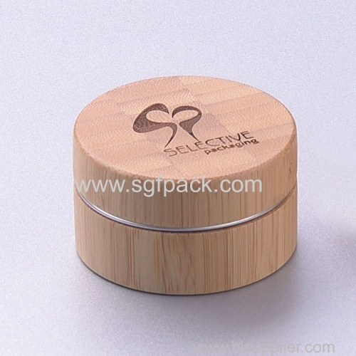 customize bamboo cosmetic packaging bottle jars bamboo jar packaging inner aluminum