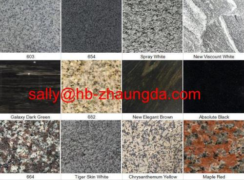 Natural Stone China Black Pink Yellow Brown Green Beige Red White Blue Grey Polished Granite Slabs Tiles Countertops