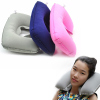 U Shaped Travel Pillow Inflatable Neck Car Head Rest Air Cushion for Travel Office Nap Rest Pillow unit price $0.42