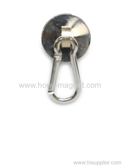 Round Neodymium Fishing Pot shape Super Strong Magnet with Eyebolt