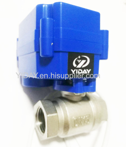 3/4'' Motorized Ball Valve AC/DC 9~24V 3/4