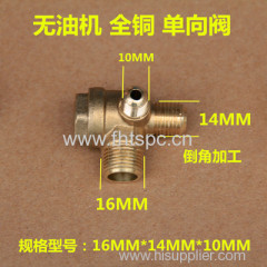 Oil-free air compressor check valve
