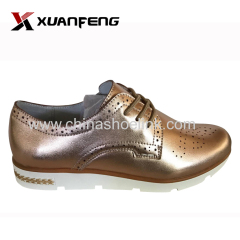 Gold easy wearing women comfortable shoes