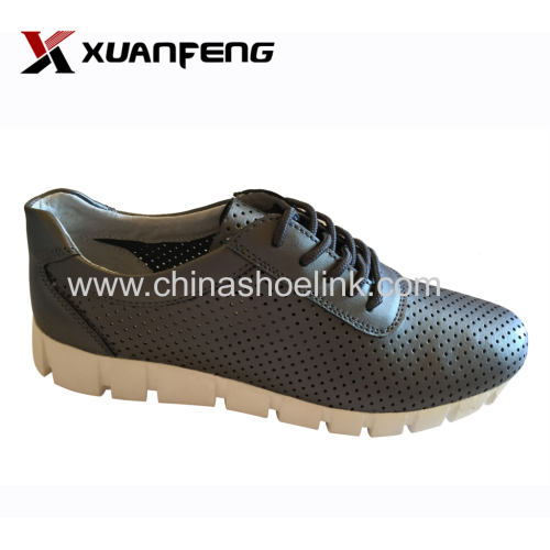 Black women lace-up genuine leather shoes manufacturer